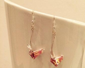 Brown rabbit Origami earrings