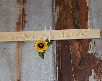 Monogram Wedding Sign - Beach Wedding Sign - Personalized Bride and Groom Name Sign - Wedding Gift Idea - Wedding Decor