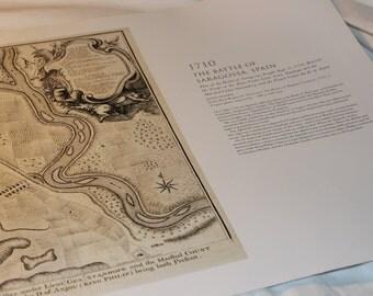 Map Print Battle of Saragossa, Spain