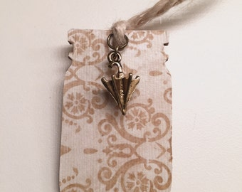Gold Umbrella Bookmark