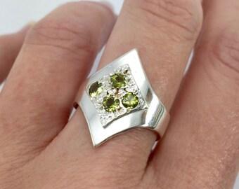 Sapphire Art Deco Triangular Ring