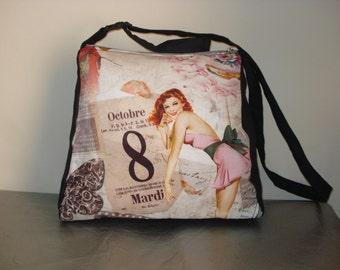 trapezoid pin-up bag