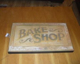 """Wooden """"bake shop"""" sign"""