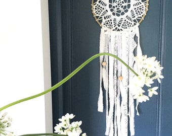White lace - Dreamcatcher - dream-catchers - size L-