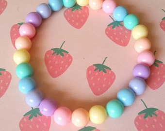 Stretchy Kawaii Pastel Bracelets