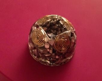 Handmade pocket orgone energy dome