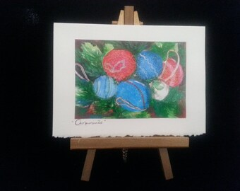 Ornaments Watercolor Greeting Card