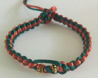 Copper Green Drum Bracelet