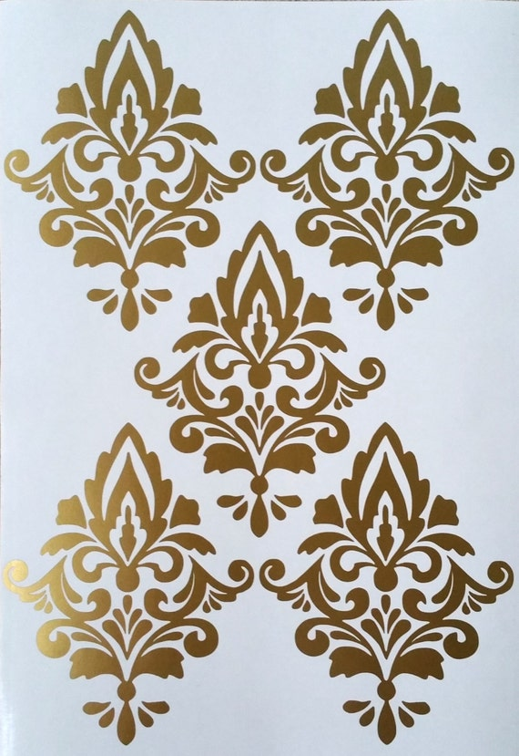 damask wall decals x 6 damask wall stickers removable one tone damask wall art stickers free shipping on