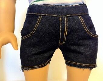 18 Inch Doll Clothes, Denim Jeans, Classic,Cutoff Shorts