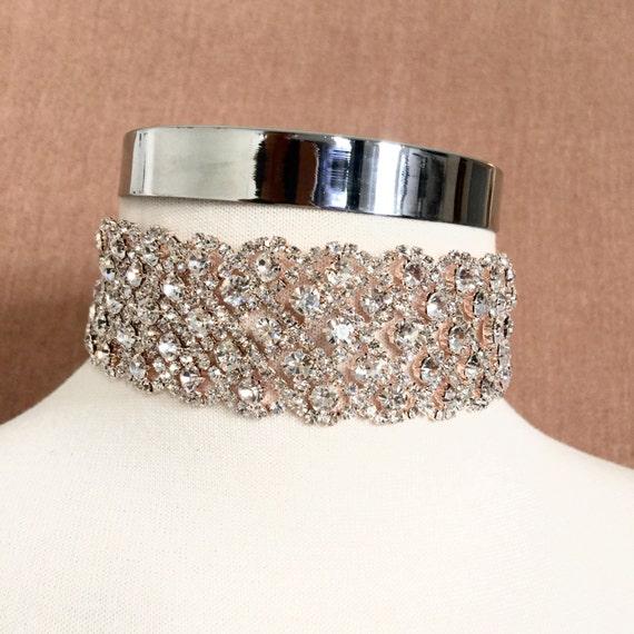 Rose gold Rhinestone Choker Choker Jewelry