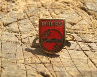 PHILIPS radio TV - Holland Netherlands, enamel, vintage pin, badge