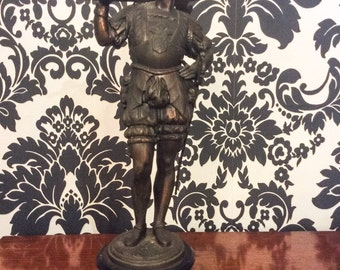 1920's Antique Pewter Figurine Soldier