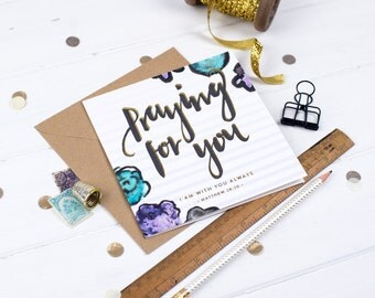 I Am with You Always - Praying for You Card - Sympathy Card - Thinking of You Card - Thinking of You Gift - Modern Calligraphy