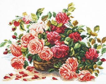 Cross Stitch Kit Roses