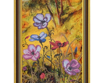 Cross Stitch Kit Anemones