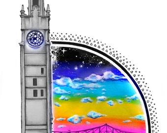 Quai de l'horloge- Art Print