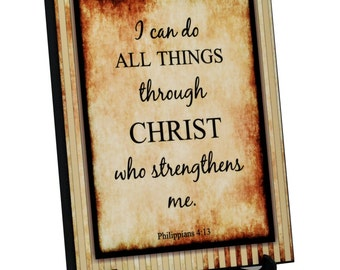 Christian Wall Art - I Can Do All Things Through Christ  (8X1044)