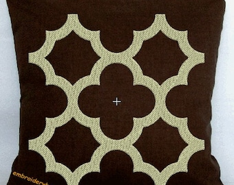 tile four machine embroidery designs 5 size 4in-5in-6in-7in-8in