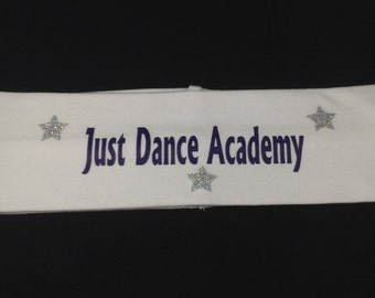 "Personalized Dance Vinyl 2 1/2""  Headband"