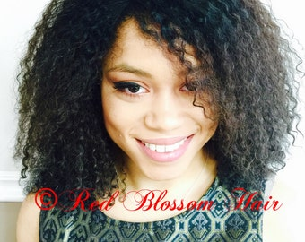 Gorgeous Kinky Curly Lace Front  Unit-100% Brazilian Remy