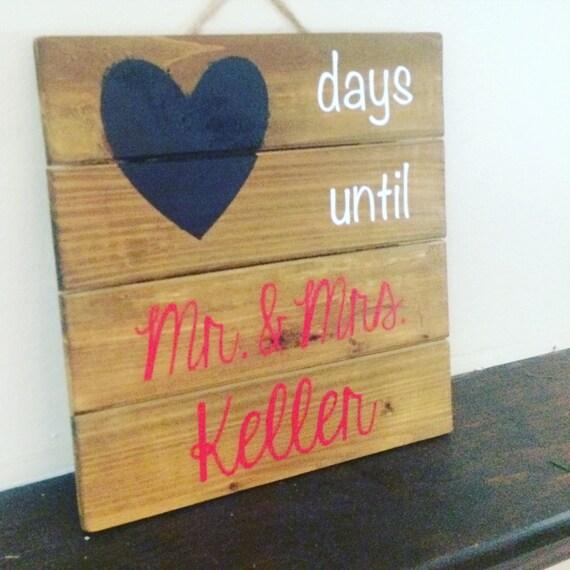 Wedding Countdown Checklist: Wedding Countdown Chalkboard By IDoDecorandDesigns On Etsy