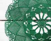 16 inch Doily, Easter Green Table Decor, Green Crochet Lace Doily, Green Decoration, Lace Table Centerpiece, Rustic Doily, Large Lace Doily