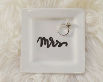 Hand Lettered Ring Dish