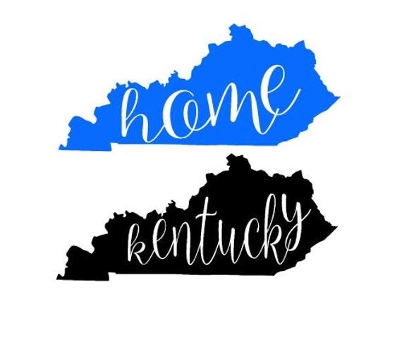 Kentucky State Home Outline Shape Svg Dxf By Ohthisdigitalfun