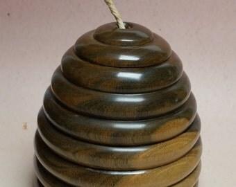 Skep String/yarn box in Lignum Vitae
