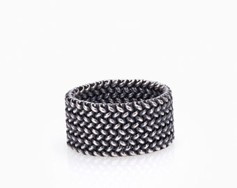 SMALL LIGHT MESH Ring