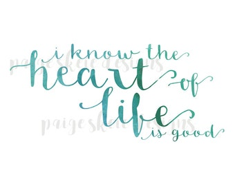 Heart of Life Lyrics Print