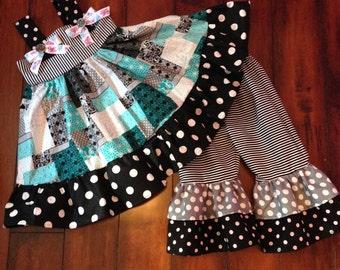 Dress/Top with Ruffle legged pants