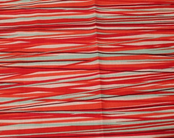 Pink/Red/blue/White Stripes Cotton Fabric Fat Quarter 18 X 22