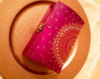 Maid of Honor or Bridesmaids Keepsake/Jewelry Box in Indian Magenta