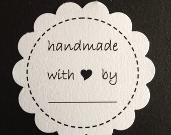 "30 ""Handmade With Love By"" Gift Tags"