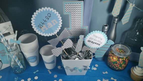 little man centerpiece little man baby shower baby shower
