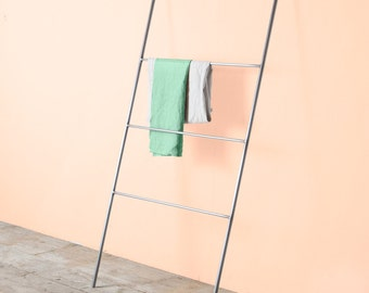 Delamont ladder, towel and cloth display, for bedroom or bathroom, minimal