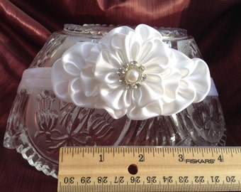 Headband ,White Kanzashi flower, Accessories Hair Accessories