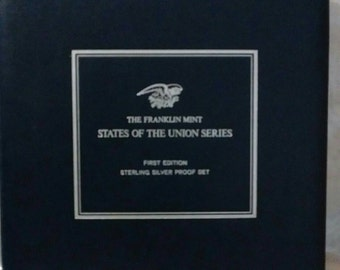 A 1969-Franklin Mint- States of The Union Series-First Edition-Silver Proof Set