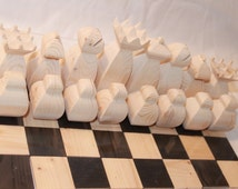 Scroll saw Pattern: Chess Set, Simple.