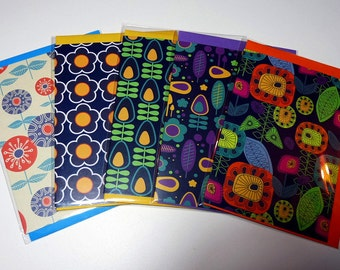 Set of all five greeting cards - Set A