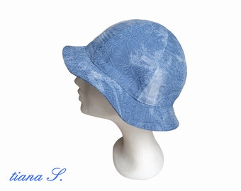 Denim hat, light blue, one size