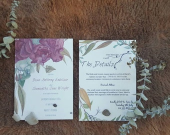 Rustic Boho Wedding Invitation