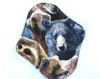 Bear Cloth Pad, custom cloth pad