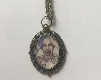 Joker Suicide Squad Jared Leto Bronze or Silver Cameo Necklace