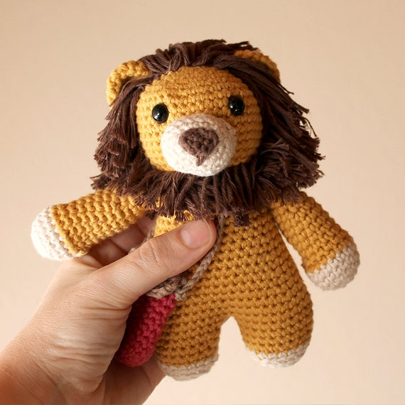 Lion - Animalius. Amigurumi Pattern PDF, Cat Animal Toy, Nursery Doll, Crochet Pattern, Cute Children Gift, DIY, Crafts, Instant download