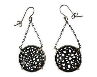 Cell Circle Earring