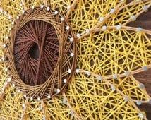 MADE TO ORDER - String Art, Sunflower String Art, Wall Decor, Home Decor, Sunflower Decor, Gift, Gift Idea, Nail Art