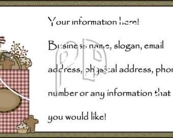 Annie with Candles Gingers and Pipberries Customized Business Card Crafters Personal Use or Scrapbooking